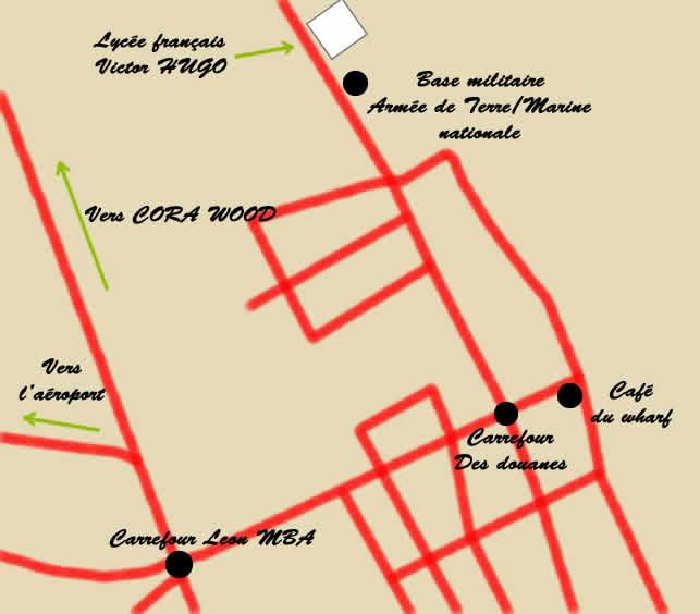 Plan d'accès du lycée Victor Hugo