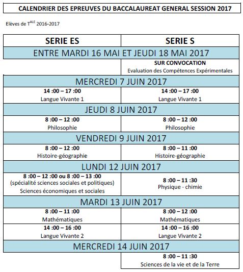 Calendrier Epreuve Bac 2019.Calendrier Des Epreuves Des Examens Lycee Francais Victor
